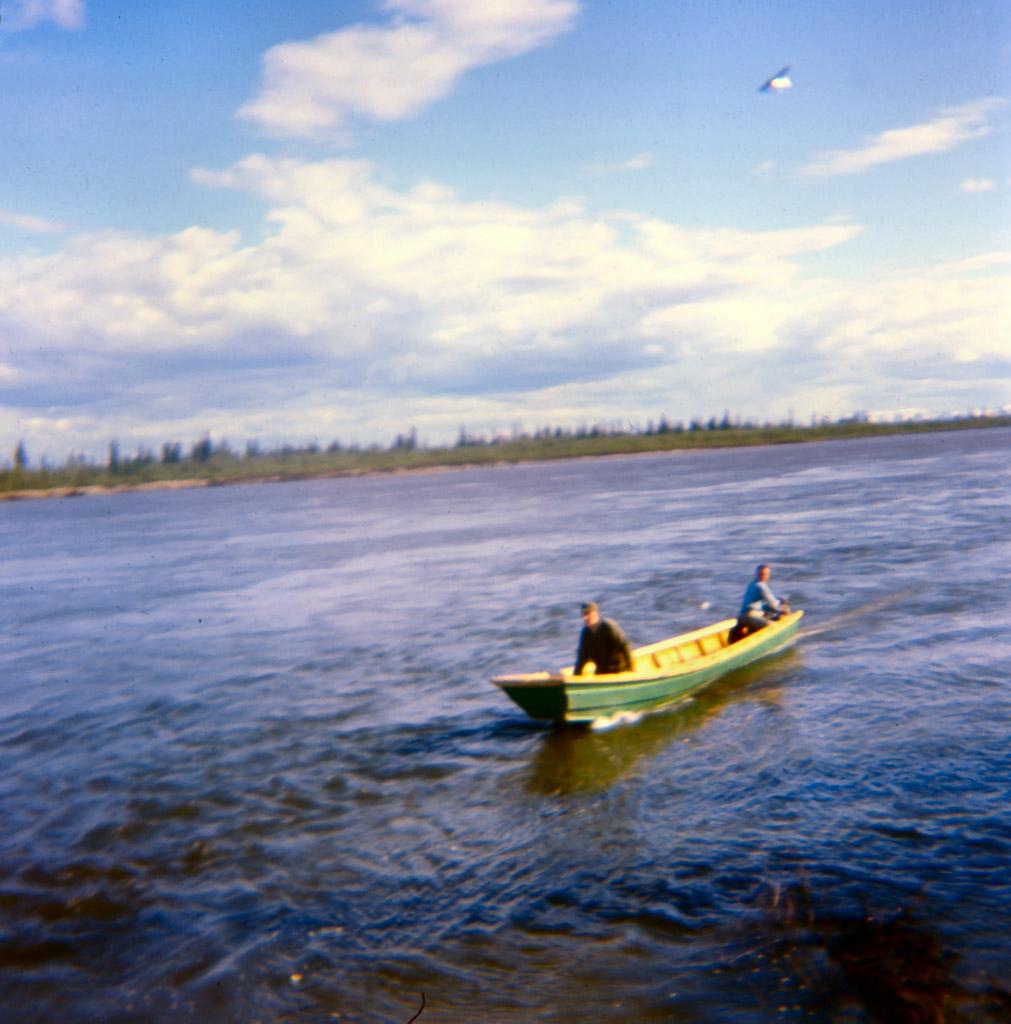 145-Our-fishing-boat-on-Kobuk-River-June-1968