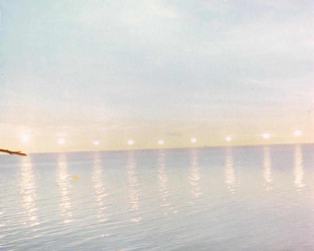 1960s Midnight sun in front of Kotzebue.