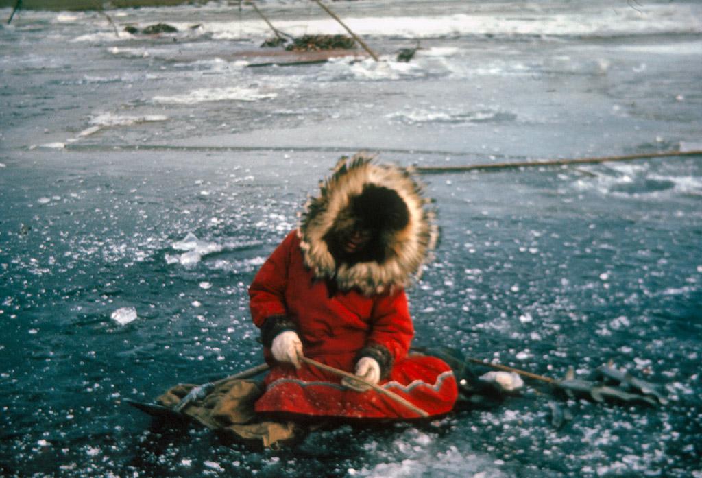 1965? Eleanor Cleveland fishing.