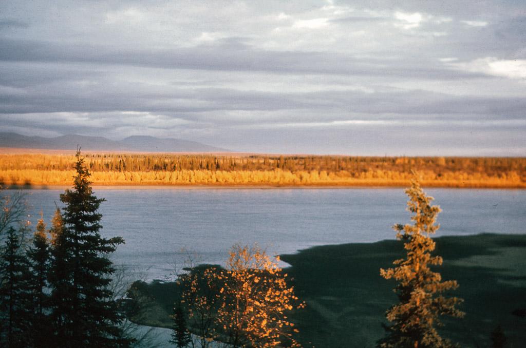1967 Falltime. Looking across Kobuk River.