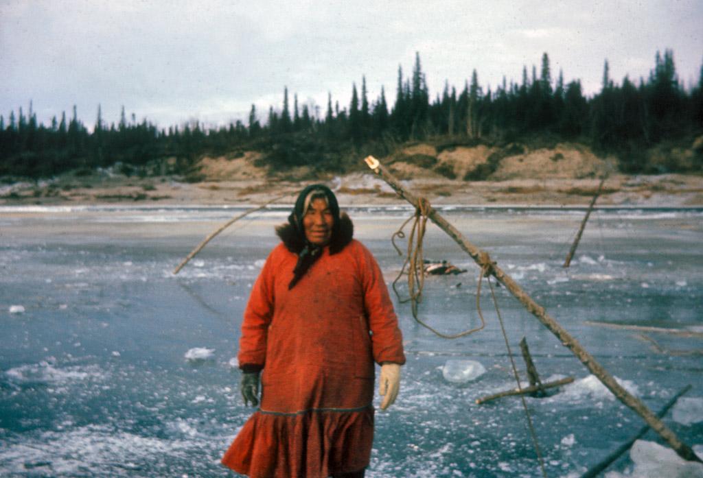 1967 Ice fishing Maude Cleveland .