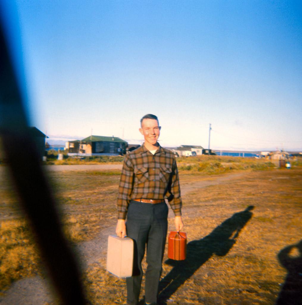 1967 Richard leaving for Fairbanks to go to University of Alaska.