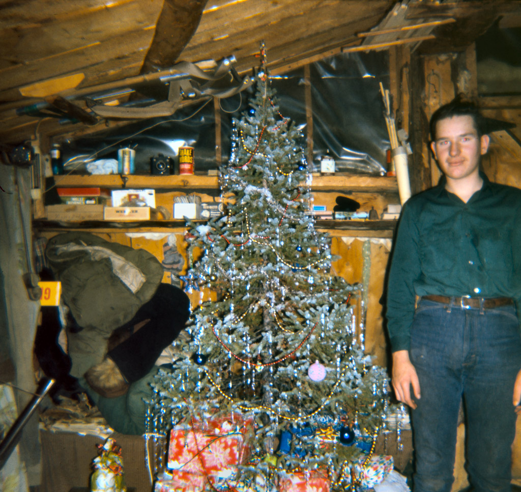 Late 1960s Gary and Christmas tree in our house.