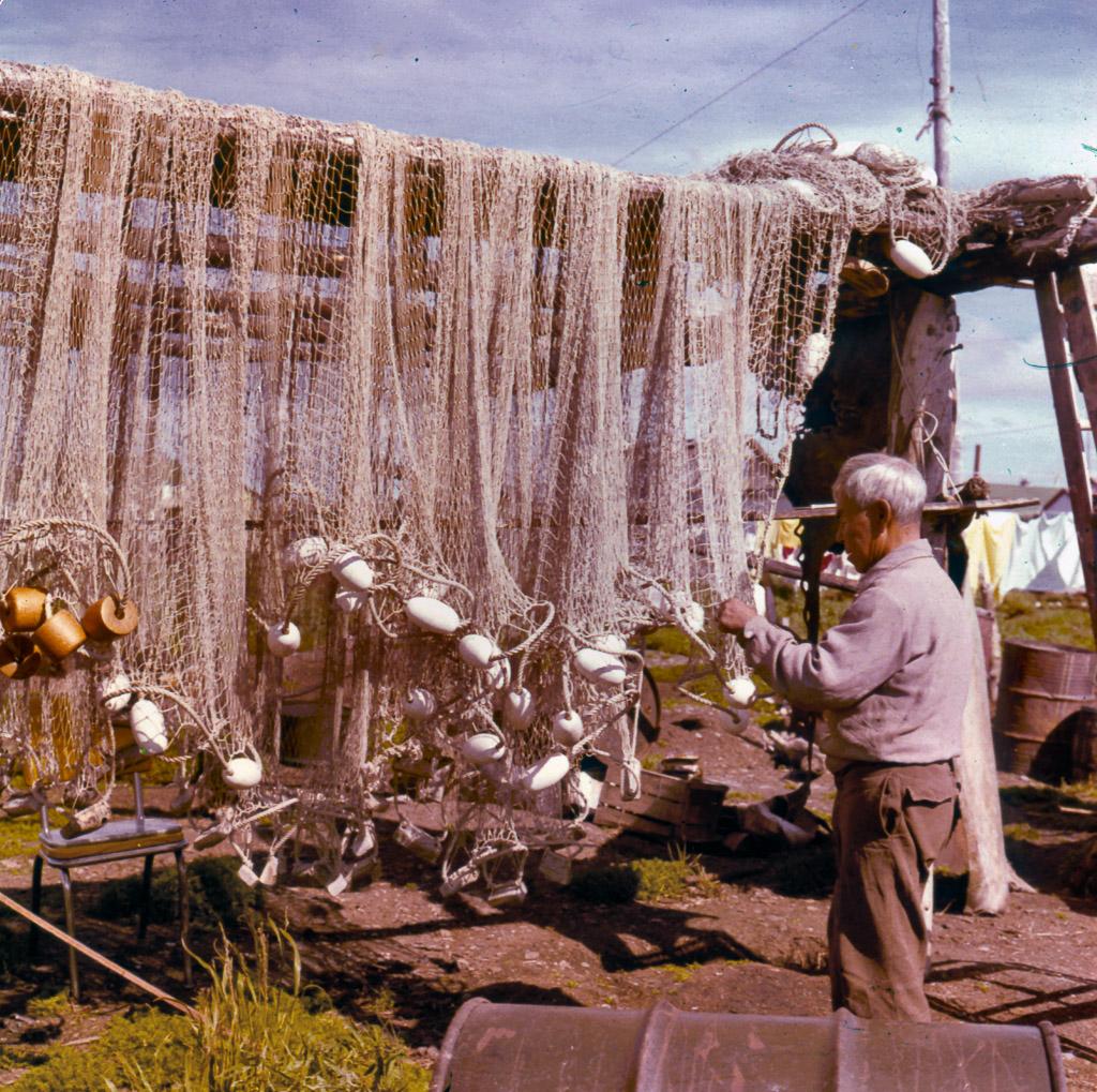 Mending-fish-nets