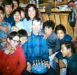 1968 Gary's birthday. ? Charlie Tickett, Bobby Jones, Mina Griest, Alice Lee, Mabel Johson, Perhaps Griest?  behind, Tony Jones in red sweater, ? Gerald (Gary) ? Griest, Carroll Grey
