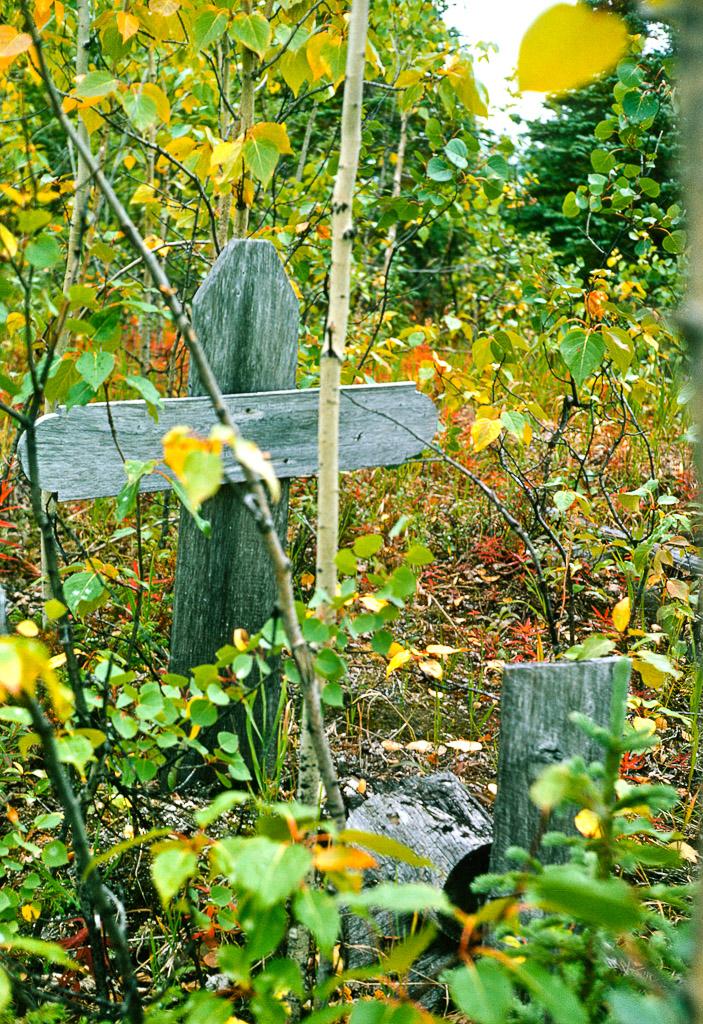 Baby Cleveland's gravesite.  Ambler, Alaska, 1964