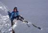 Corie Denslow on skiis