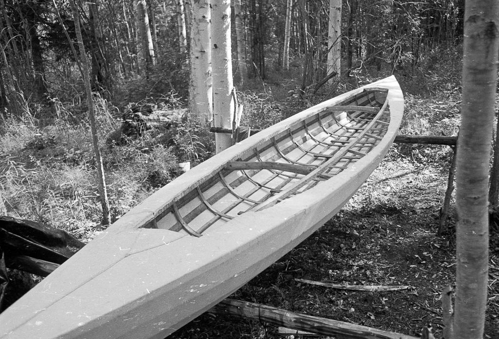 1978 Kayak under construction