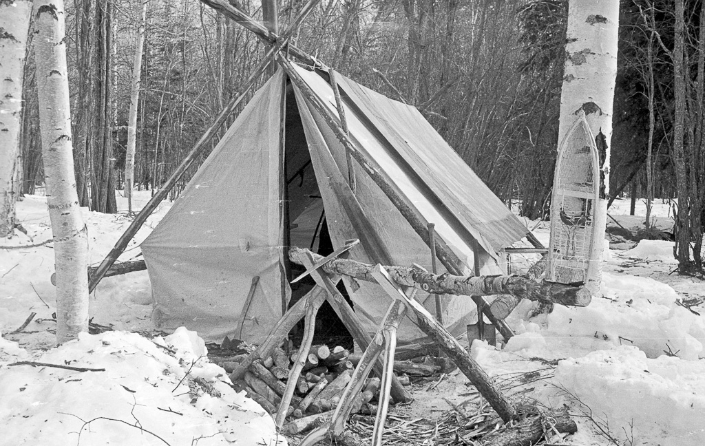 Olivers-tent-and-firewood-sawhorses