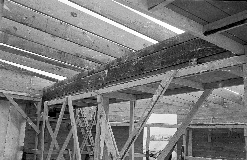 Lumber building under construction