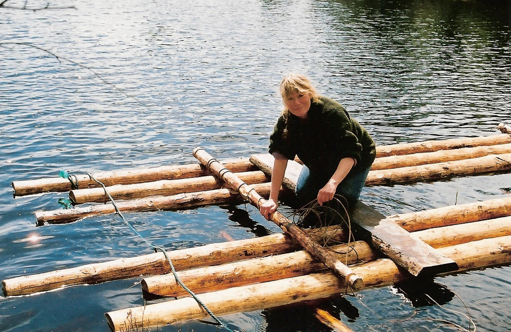 Heidi working on Raft  004 ~ Norway ~ Oliver with Heidi