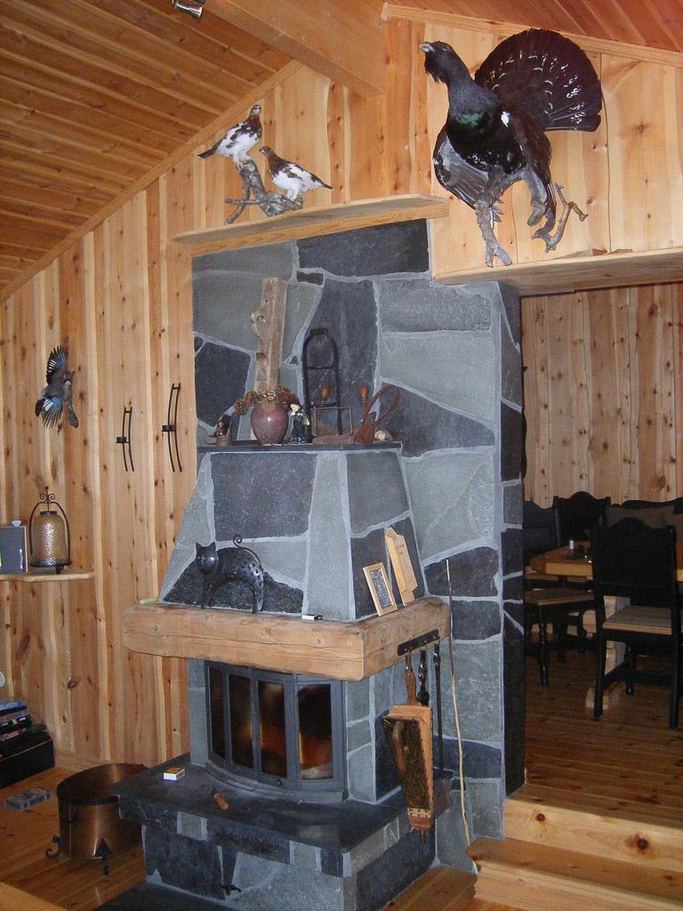 insde Thomas's cottage (livingroom) Norway