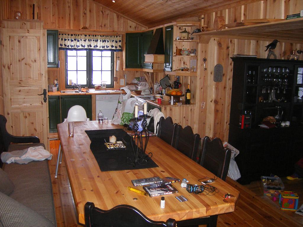 Inside Thomas's cottage, kitchen, Norway
